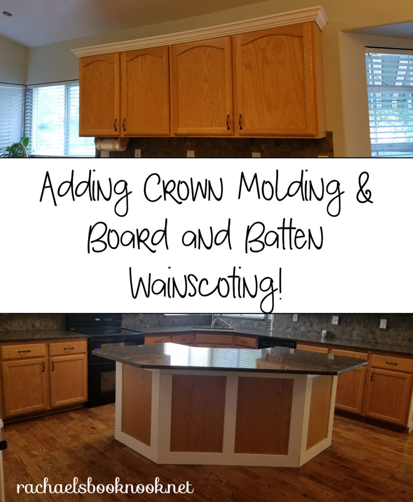 Our Coastal Home- Adding Crown Molding to Kitchen Cabinets and ...