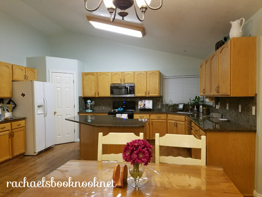 our coastal home- painting the kitchen sea salt